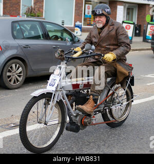 Reigate, Surrey, UK. 19th March 2017. The 78th Sunbeam Motor Cycle Club Pioneer Run takes place at Reigate in Surrey. - Stock Photo