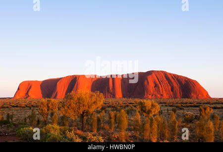 Sunrise Over Uluru, Uluru-Kata Tjuta National Park, Northern Territory, Australia - Stock Photo