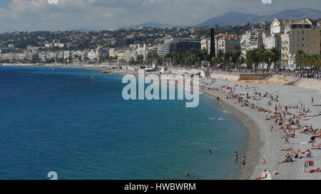 Coasline in Nice town, France. - Stock Photo