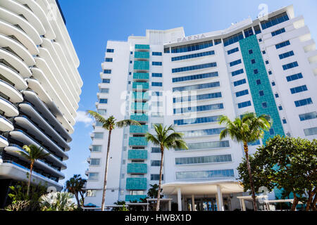 Miami Beach Florida Faena District Collins Avenue Faena Hotel Faena House hotel condominium residences building - Stock Photo