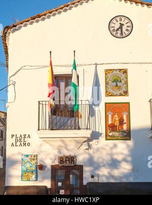Ayuntamiento town hall building village of Castano del Robledo, Sierra de Aracena, Huelva province, Spain - Stock Photo