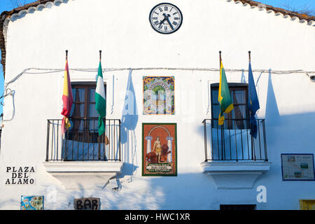 Ayuntamiento town hall building village of Castano del Robledo, Sierra de Aracena, Huelva province, Spain - Stock Photo