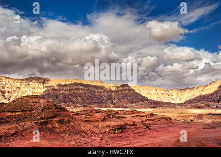 The red sand rocks in Timna park, Negev Desert, Israel - Stock Photo