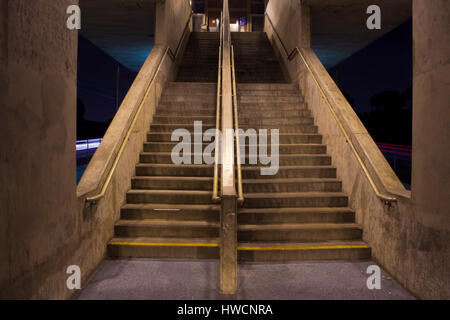 Metro Station in Inglewood, CA. Stock Photo