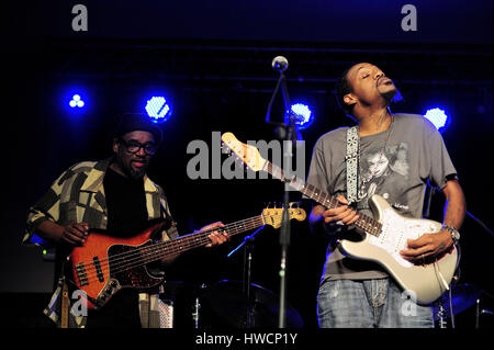 Eric Gales, (aka Raw Dawg) (born October 29, 1974, Memphis Tennessee,Blues-rock, hard rock, blues, heavy metal,Musician, - Stock Photo