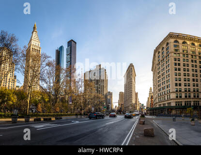 Buildings around Madison Square Park - New York City, USA - Stock Photo