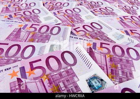500th euro of notes, 500er Euro Scheine - Stock Photo
