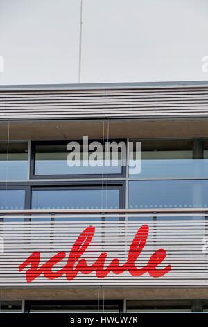 School facade, symbol for education and Schulrefom, Schulgebäude Fassade, Symbol für Bildung und Schulrefom - Stock Photo