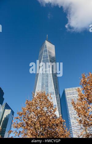 One World Trade Center at Lower Manhattan - New York, USA - Stock Photo