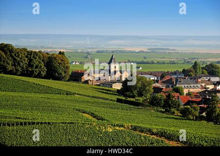 Church in the village of oger marne 51 champagne ardenne france stock photo royalty free for Salon blanc de blancs le mesnil sur oger