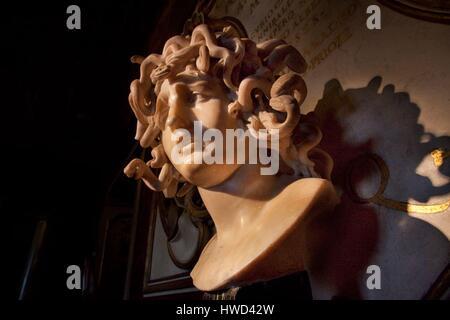 Italy, Latium, Rome, Capitolium Museums, listed as World Heritage by UNESCO, Gianlorenzo Bernini's medusa - Stock Photo