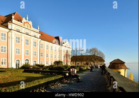 Germany, Baden Wurttemberg, Lake Constance (Bodensee), Meersburg, Neues Schloss (New castle) - Stock Photo