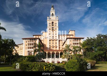 United States, Florida, Coral Gables, The Biltmore Hotel - Stock Photo