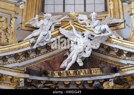 Angels in Basilica dei Santi Ambrogio e Carlo al Corso, Rome, Italy on September 03, 2016. - Stock Photo