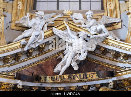 Angels in Basilica dei Santi Ambrogio e Carlo al Corso, Rome, Italy on September 03, 2016. - Stock Photo