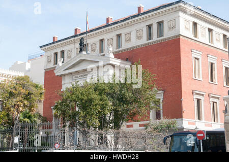 Royal Spanish Academy, Madrid, Spain - Stock Photo