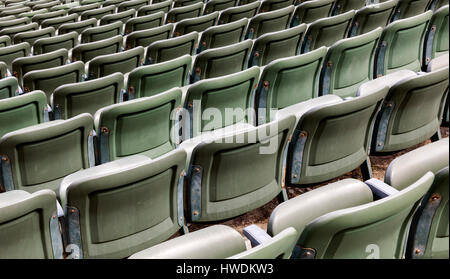 NC00635-00...NORTH CAROLINA - Rows of seats for the Lost Colony Theater at Fort Raleigh National Historic Site on - Stock Photo