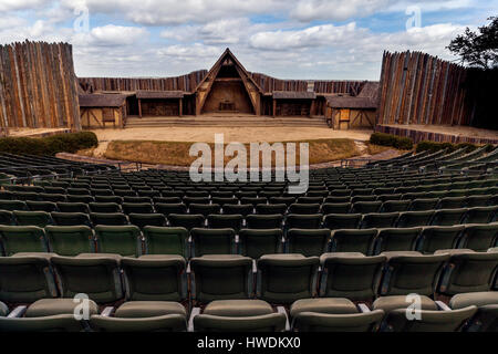 NC00636-00...NORTH CAROLINA - The Lost Colony Theater at Fort Raleigh National Historic Site on Roanoke Island - Stock Photo
