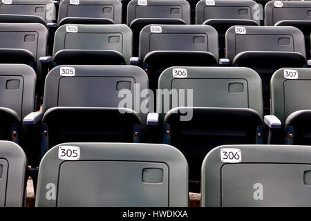 NC00638-00...NORTH CAROLINA - Rows of seats for the Lost Colony Theater at Fort Raleigh National Historic Site on - Stock Photo