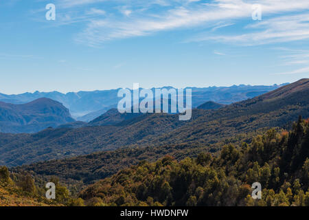 The Pyrenees in autumn - Stock Photo