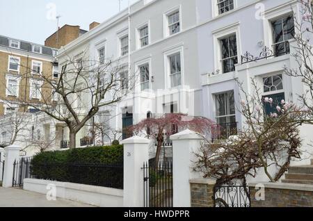 Apartments in Ladbroke Grove W11, Notting Hill, London, UK. - Stock Photo