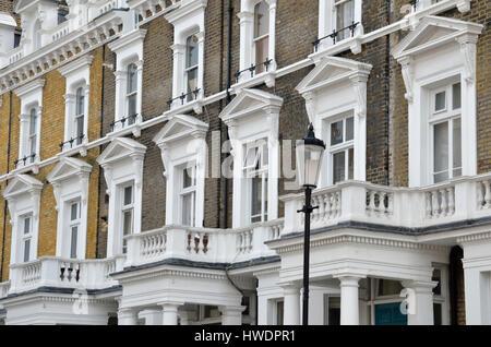 Apartments in Ladbroke Road W11, Notting Hill, London, UK. - Stock Photo