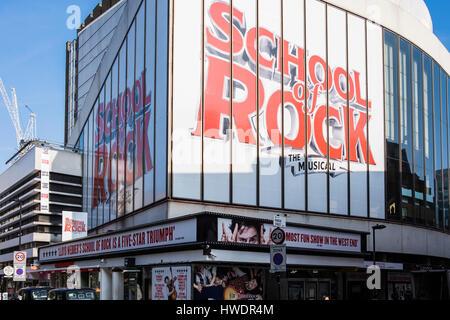 School of Rock the Musical, New London Theatre, Dury Lane, London, England, U.K. - Stock Photo