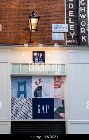GAP Store On Long Acre Covent Garden London England UK