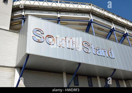 Old Tottenham White Hart Lane Football Stadium South Stand, London, UK. - Stock Photo