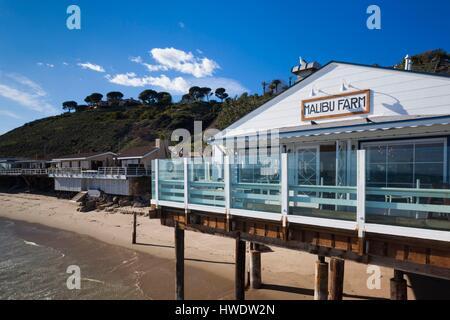 USA, California, Los Angeles-area, Malibu, Malibu Pier, restaurant - Stock Photo