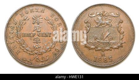 British North Borneo Coin - Stock Photo