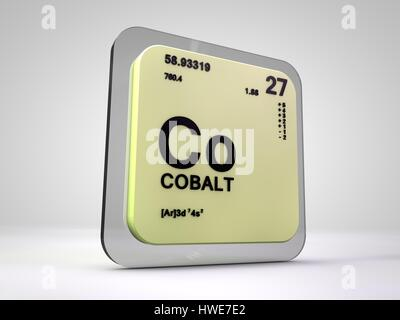 Periodic Table Of The Element Cobalt Co Stock Photo 78489521 Alamy
