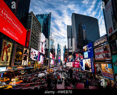 Times Square at sunset - New York, USA