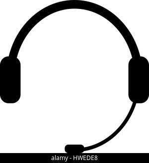 Headphones, chat icon, vector illustration on white background eps 10 - Stock Photo