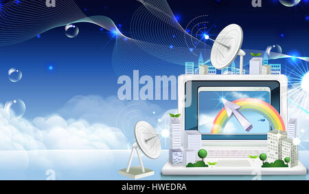 web,browser,internet,email,connected,desktop,click,mouse icon,arrow icon,arrow,sign,symbol,computer,satellite dish,global - Stock Photo