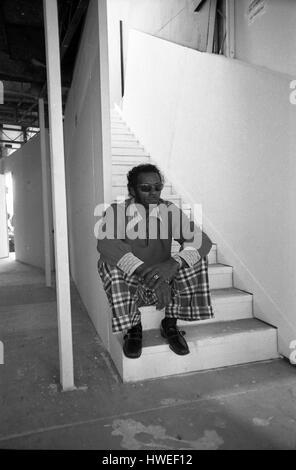 Chuck Berry in concert at Fete de l'Huma 1973 -  20/09/1973  -  France / Ile-de-France (region) / La Courneuve  - Stock Photo