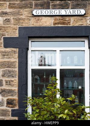 The Old Chemist Restaurant in George Yard Hanson Street Barnsley South Yorkshire England - Stock Photo