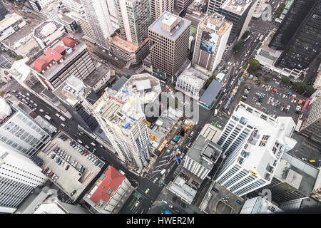 AUCKLAND, NEW ZEALAND - MARCH 1, 2017: An aerial view of Auckland central business district. This is the largest - Stock Photo