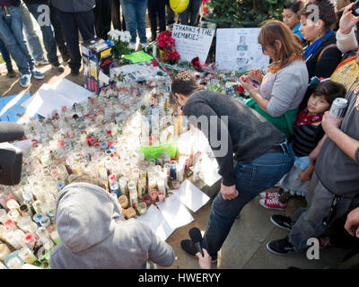 Actor Rick Yune arrives at the crash site and make shift memorial for actor Paul Walker, star of the 'Fast and The - Stock Photo
