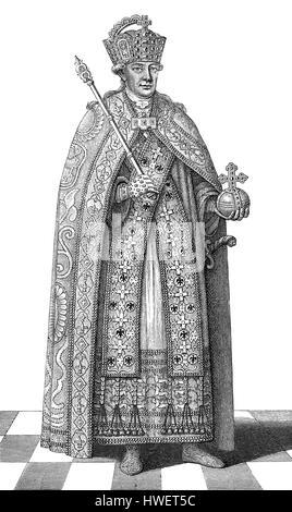 Leopold II, 1747 - 1792, Holy Roman Emperor - Stock Photo
