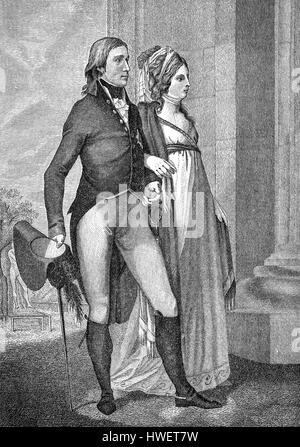 The royal couple Frederick William III, 1770 - 1840, king of Prussia and Louise of Mecklenburg-Strelitz, 1776 - - Stock Photo