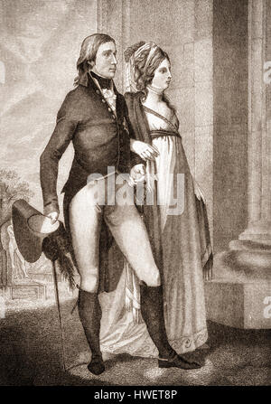 The royal couple Frederick William III, 1770 - 1840, king of Prussia and Louise of Mecklenburg-Strelitz, 1776 - 1810