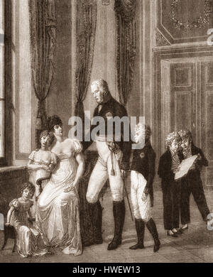 The royal couple with their children, Frederick William III, 1770-1840, king of Prussia and Louise of Mecklenburg-Strelitz, 1776-1810