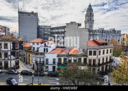 Buildings in Santo Ildefonso district of Porto city on Iberian Peninsula, second largest city in Portugal. City - Stock Photo