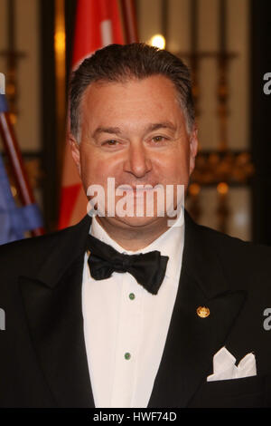 Guest attending traditional annual Matthiae Mahl' (Dinner) 2017  Featuring: Arthur Darboven Where: Hamburg, Germany - Stock Photo