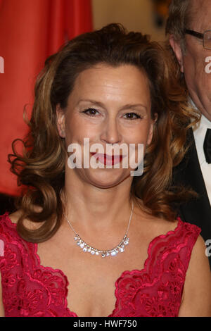 Guest attending traditional annual Matthiae Mahl' (Dinner) 2017  Featuring: Carola Veit Where: Hamburg, Germany - Stock Photo
