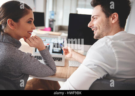 Business people sharing their ideas - Stock Photo
