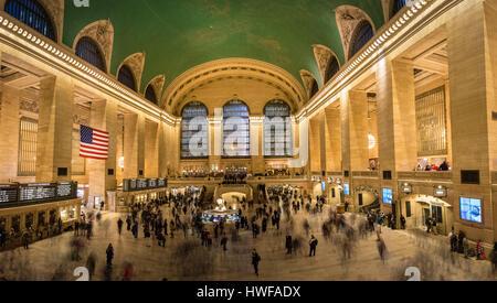 Interior of Grand Central Terminal - New York, USA - Stock Photo