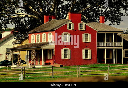 lancaster pennsylvania october 14 2015 1856 landis valley house hotel built by - Farmhouse Hotel 2015