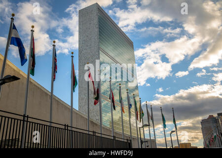 United Nations Headquarters - New York, USA - Stock Photo